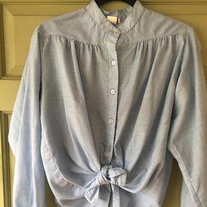 Tops - VTG chambray peasant blouse